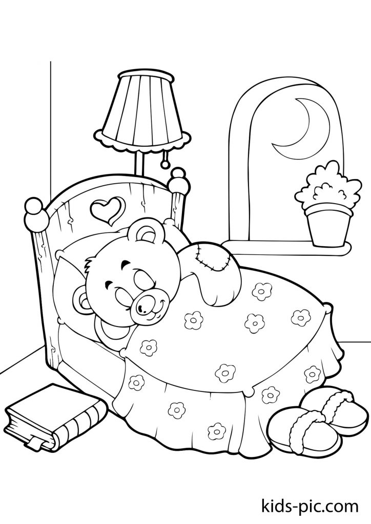 ведмедик Тедді кулі розмальовка