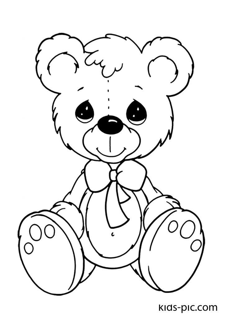 плюшевий ведмедик з �ерцем розмальовка
