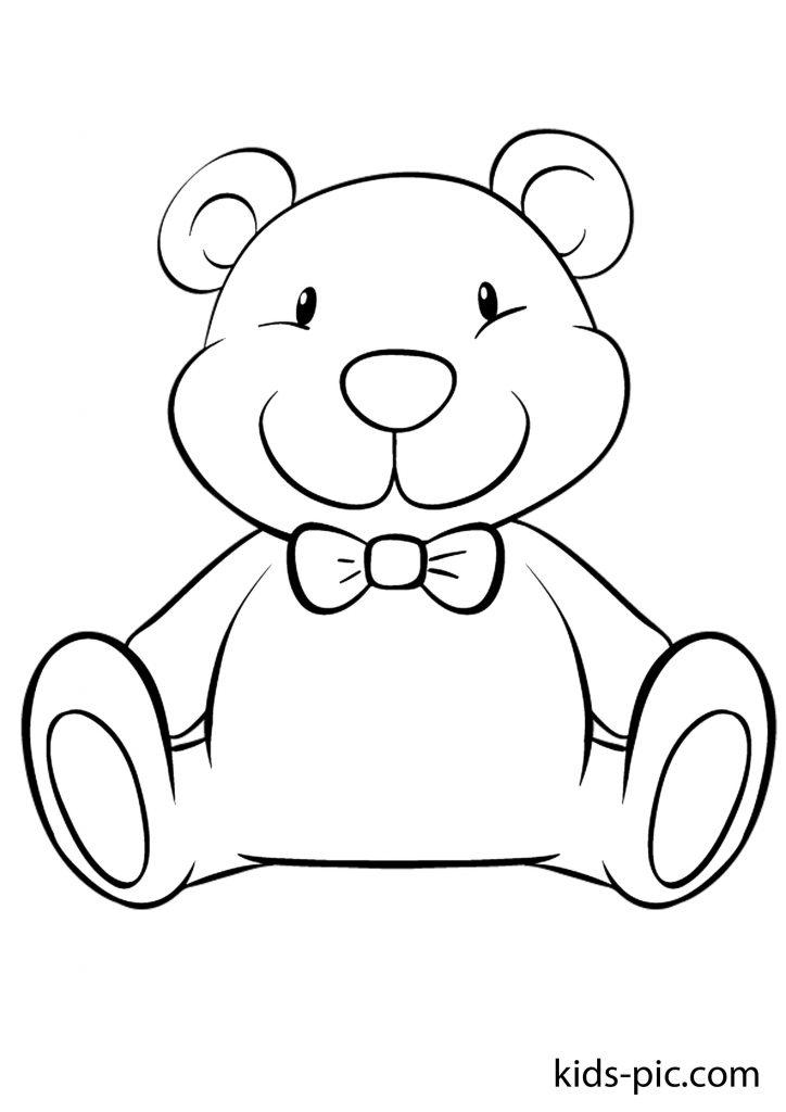 ведмідь Тедді і метелик розмальовка
