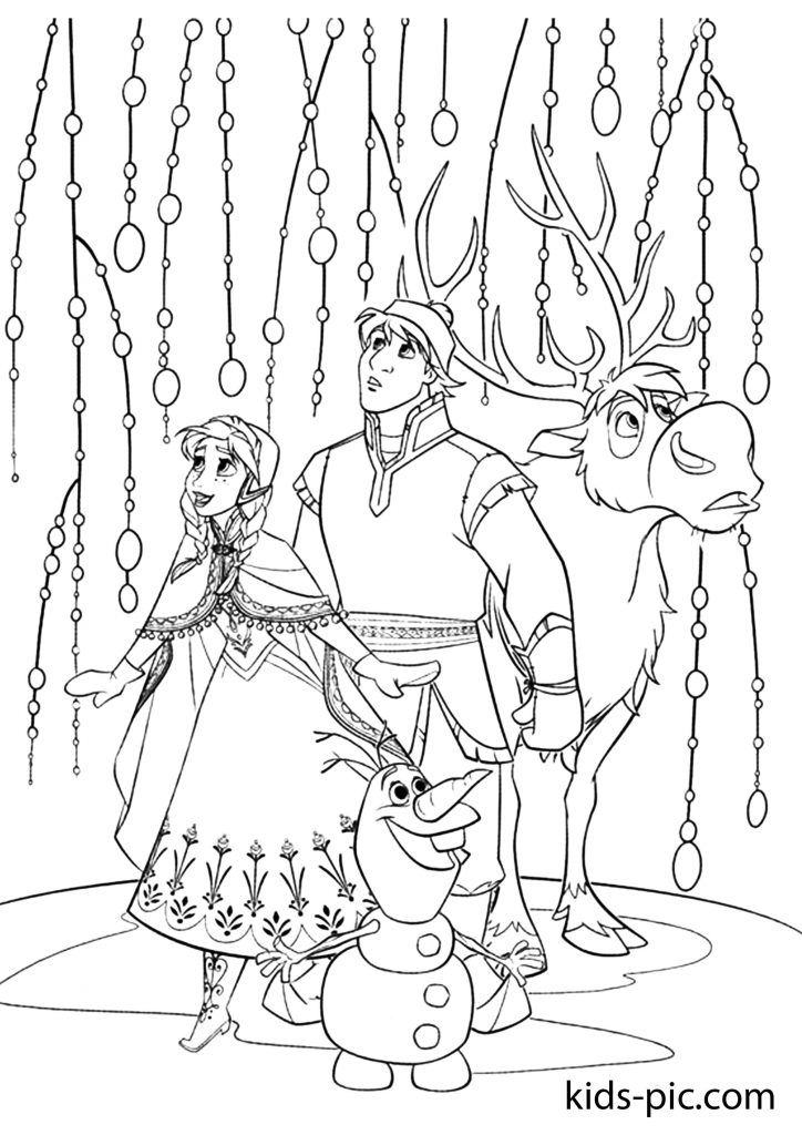 olaf coloring pages to print