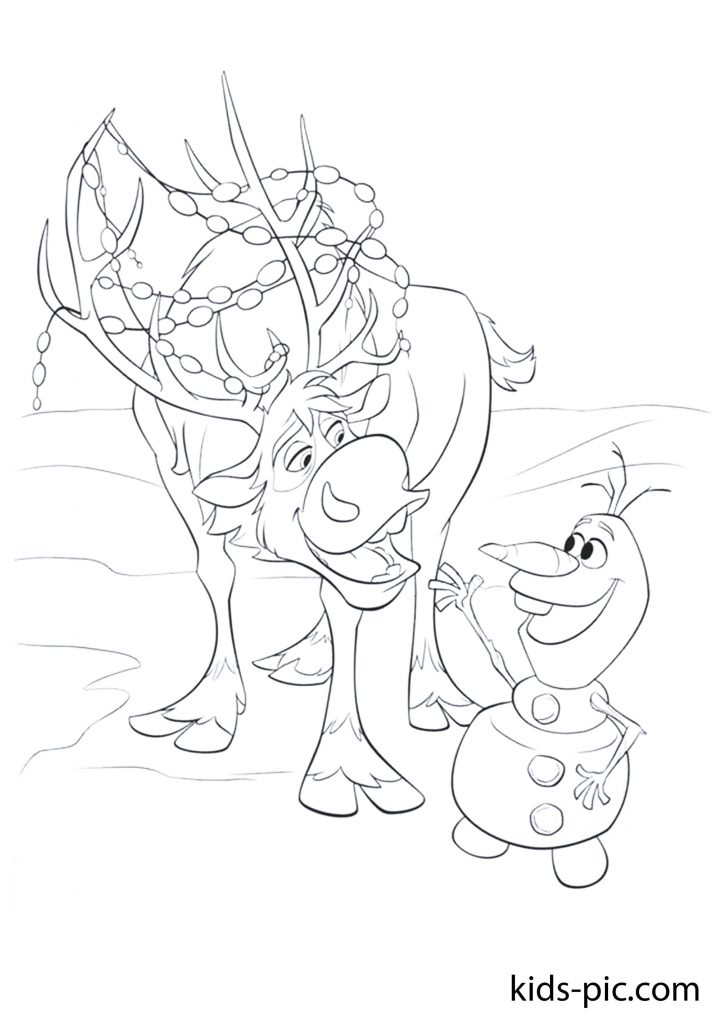 olaf's frozen adventure coloring page