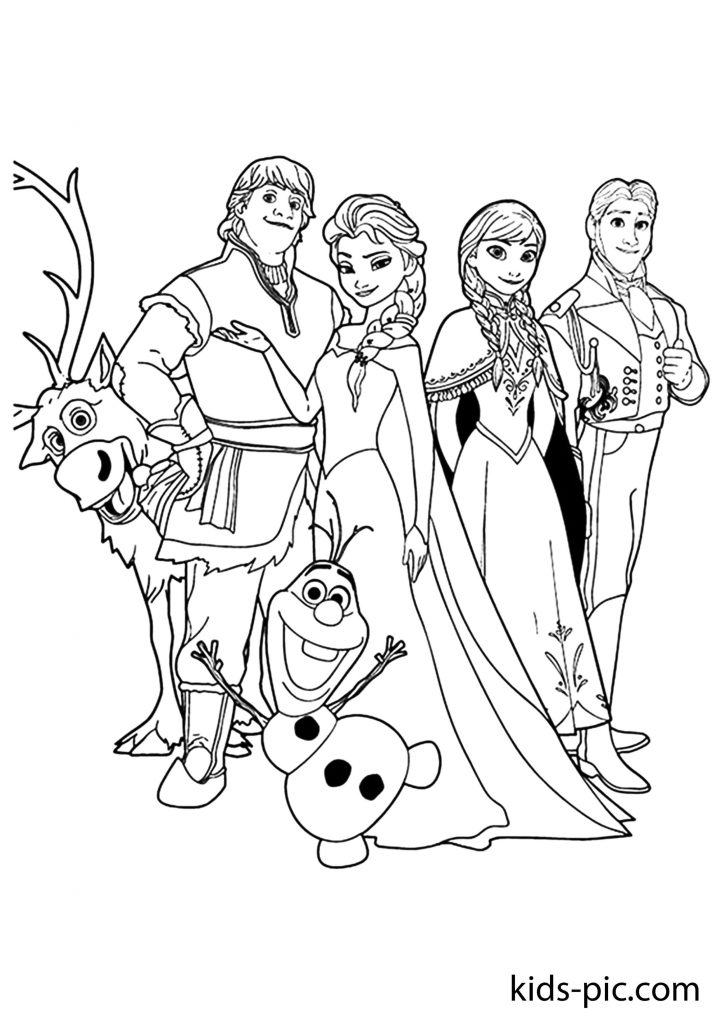 frozen olaf and sven coloring pages