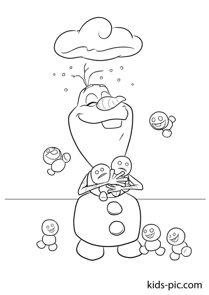 olaf snowman coloring sheet