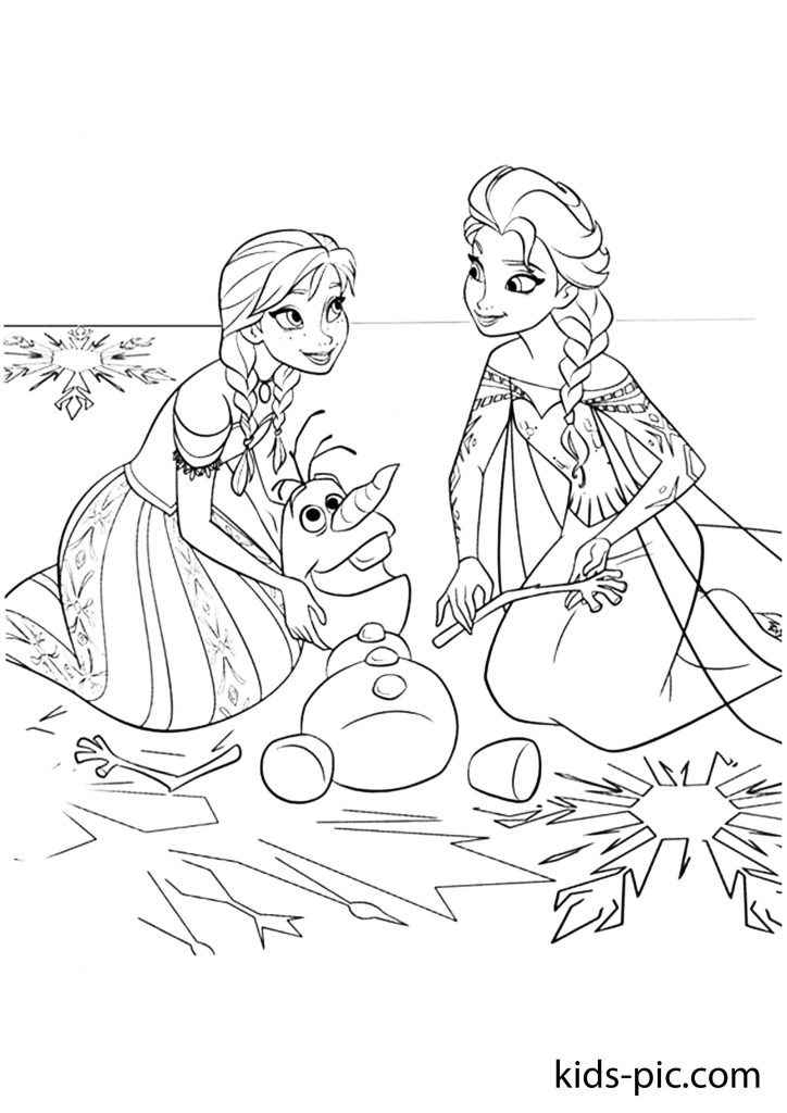 printable frozen coloring page olaf