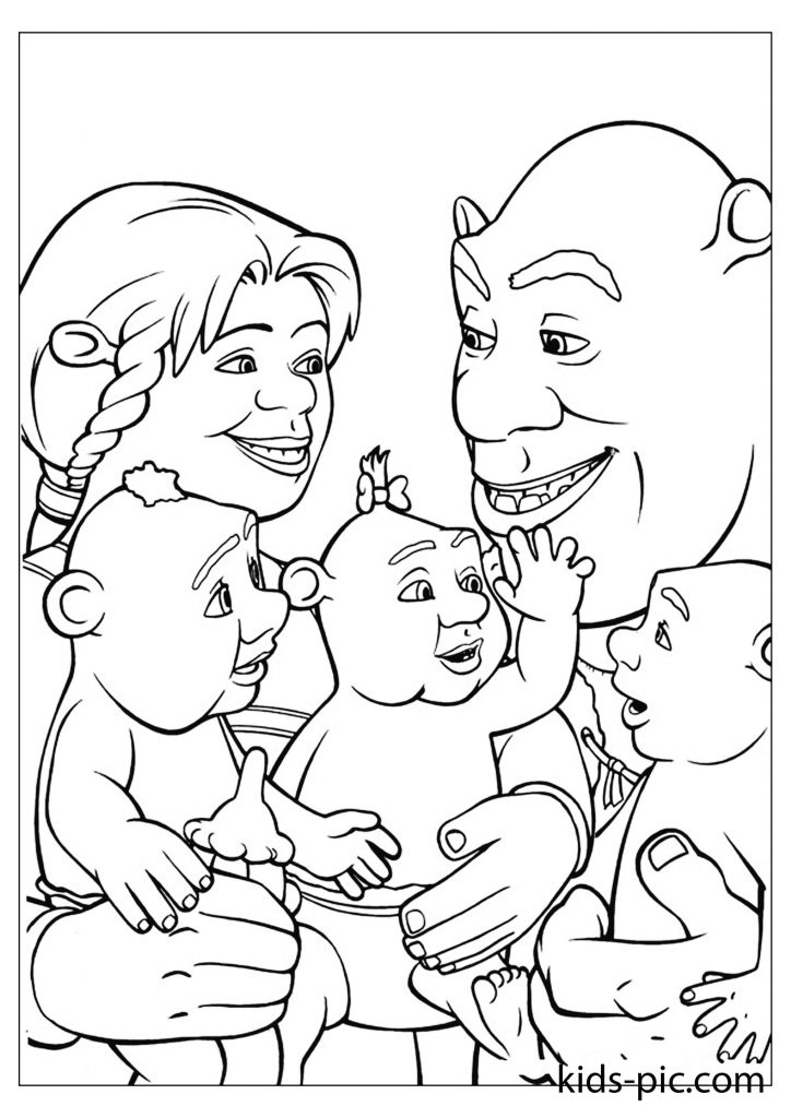 shrek coloring sheets