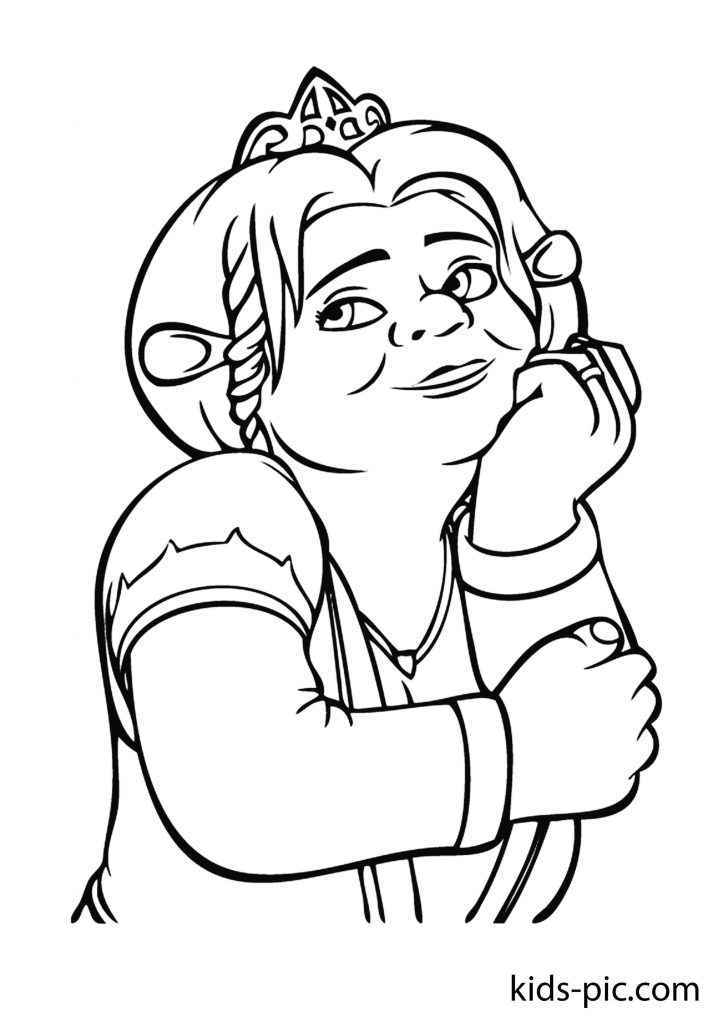 shrek donkey and cat coloring page