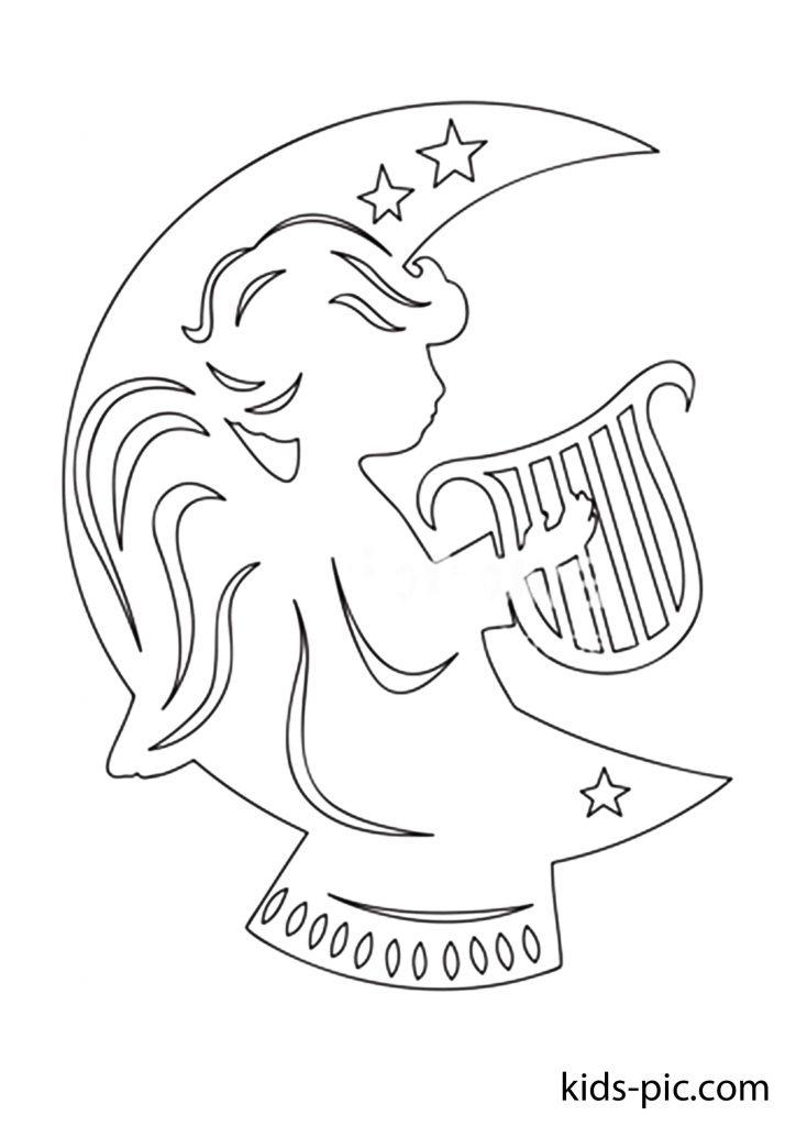 новорічний ангел шаблони для вирізання з паперу
