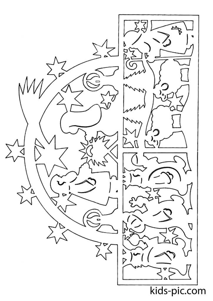 новорічні шаблони на вікна для вирізання з паперу схеми шаблони-3