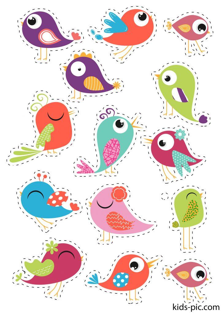 гарні шаблони пташок для вирізання з паперу