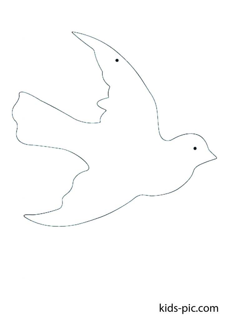 flying bird outline template