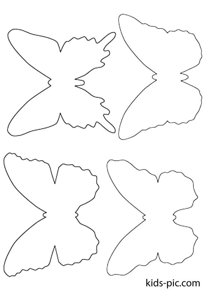 Butterfly Cut Out Template from kids-pic.com