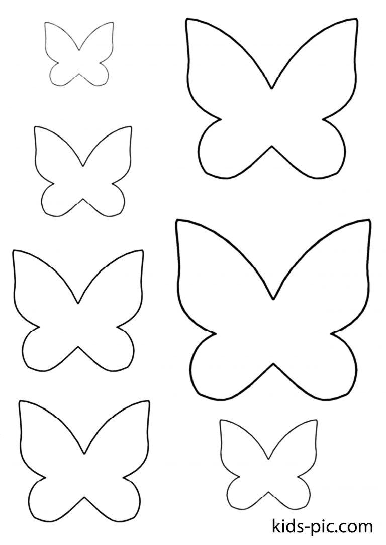 Трафареты бабочек для открыток