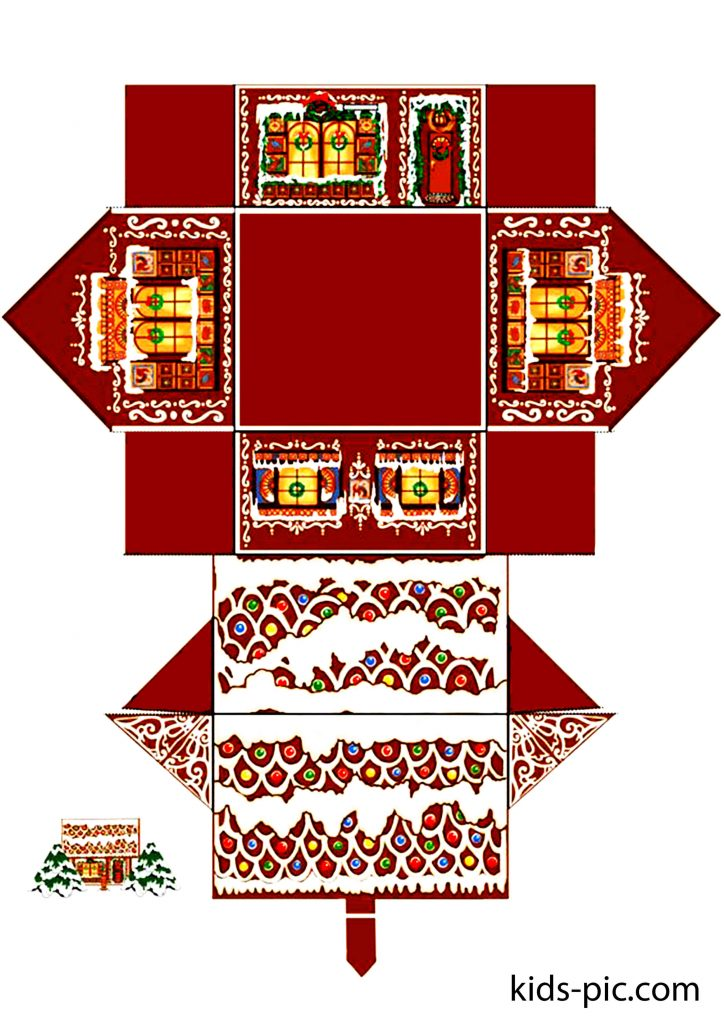 gingerbread house cut out pattern