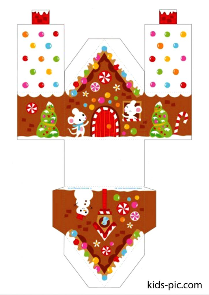 gingerbread house paper cutouts