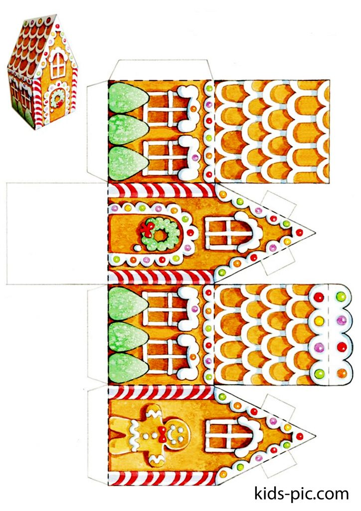 free printable paper gingerbread house templates