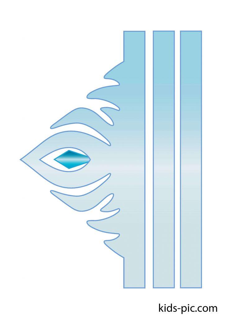 корона принцессы Frozen из бумаги шаблон для вырезания