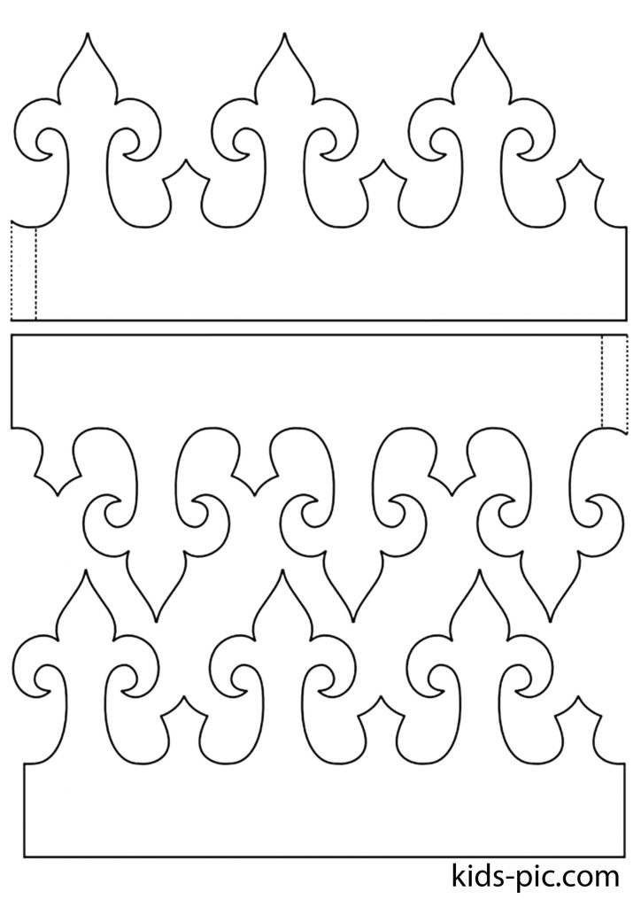 Корона из бумаги схема фото 537