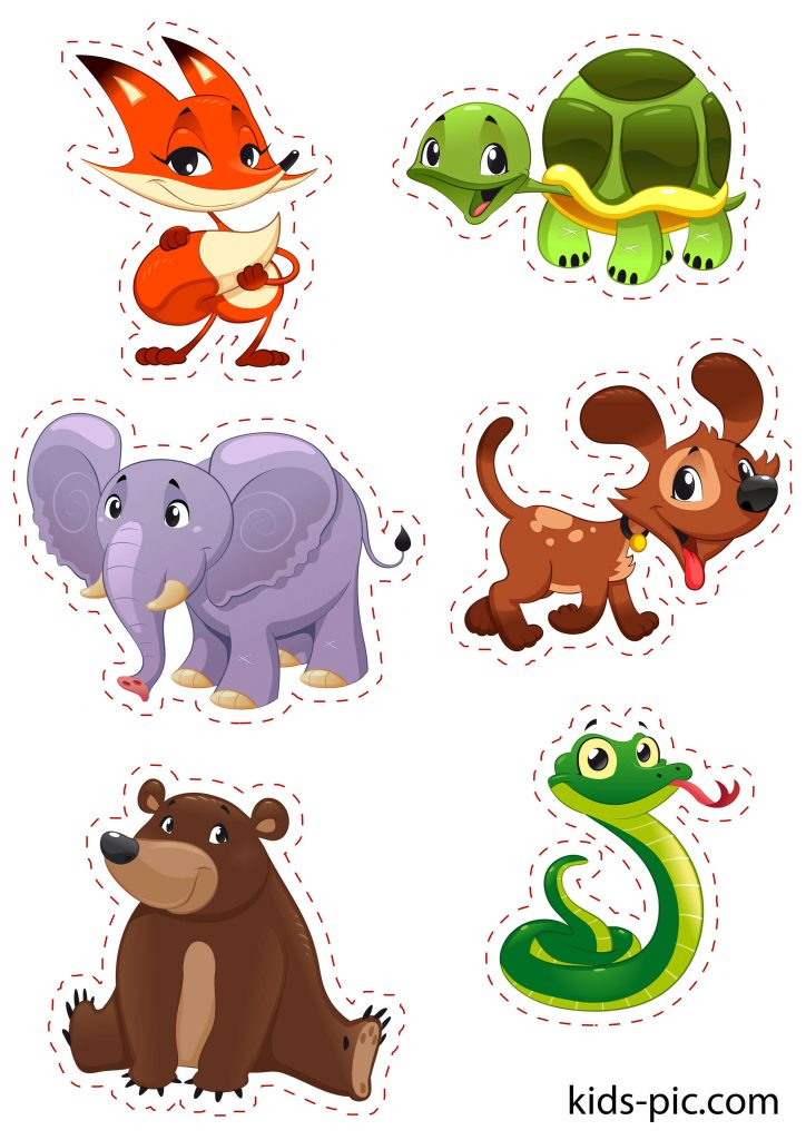 шаблоны животных для вырезания из бумаги распечатать формат а4 зоопарк
