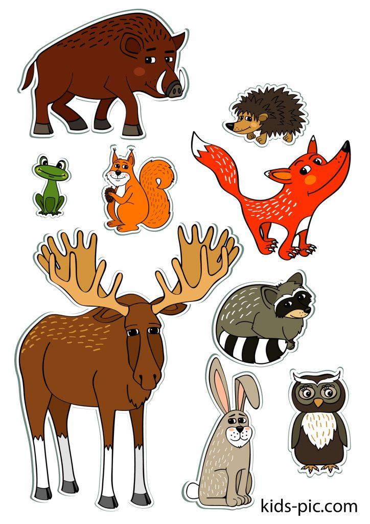 шаблоны животных для вырезания из бумаги распечатать формат а4 лесные звери