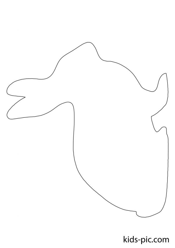 силуэты животных для вырезания из бумаги шаблон заяц