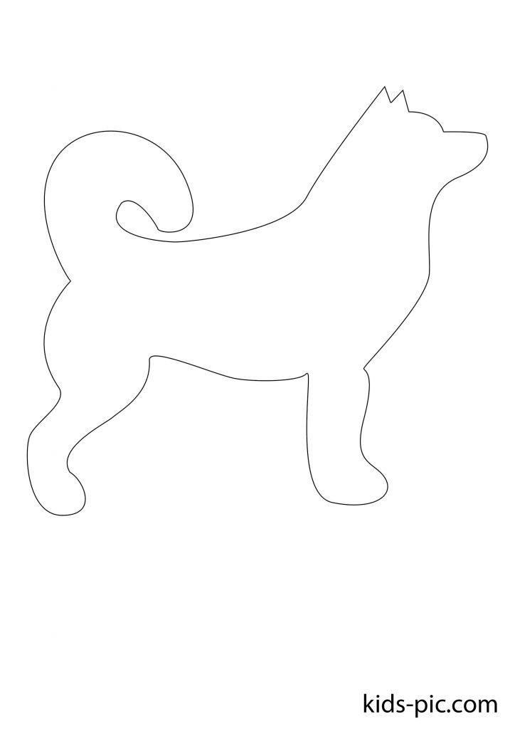 шаблоны животных для вырезания из бумаги распечатать собака