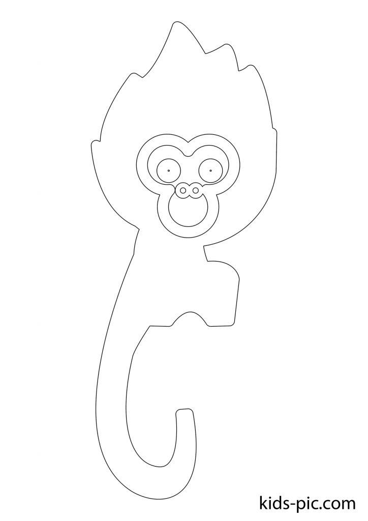 шаблоны животных для вырезания из бумаги распечатать обезьяна