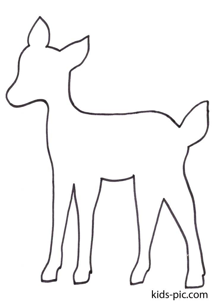 шаблоны животных для вырезания из бумаги распечатать бэмби