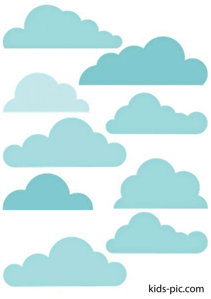 pattern of colored clouds for cutting paper out