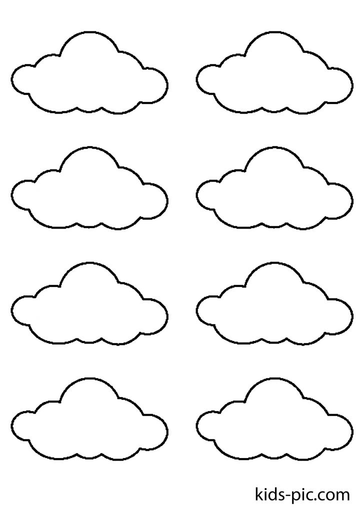 stencil a lot of clouds for cutting paper templates download