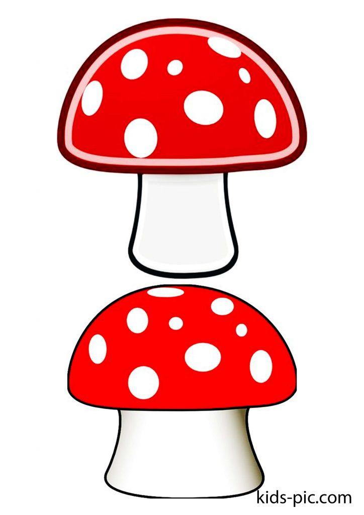 шаблоны грибов мухоморов для вырезания из бумаги распечатать картинки