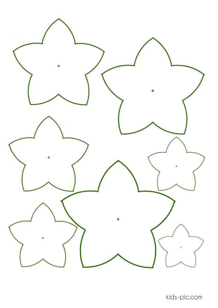 flower bell paper cutout patterns