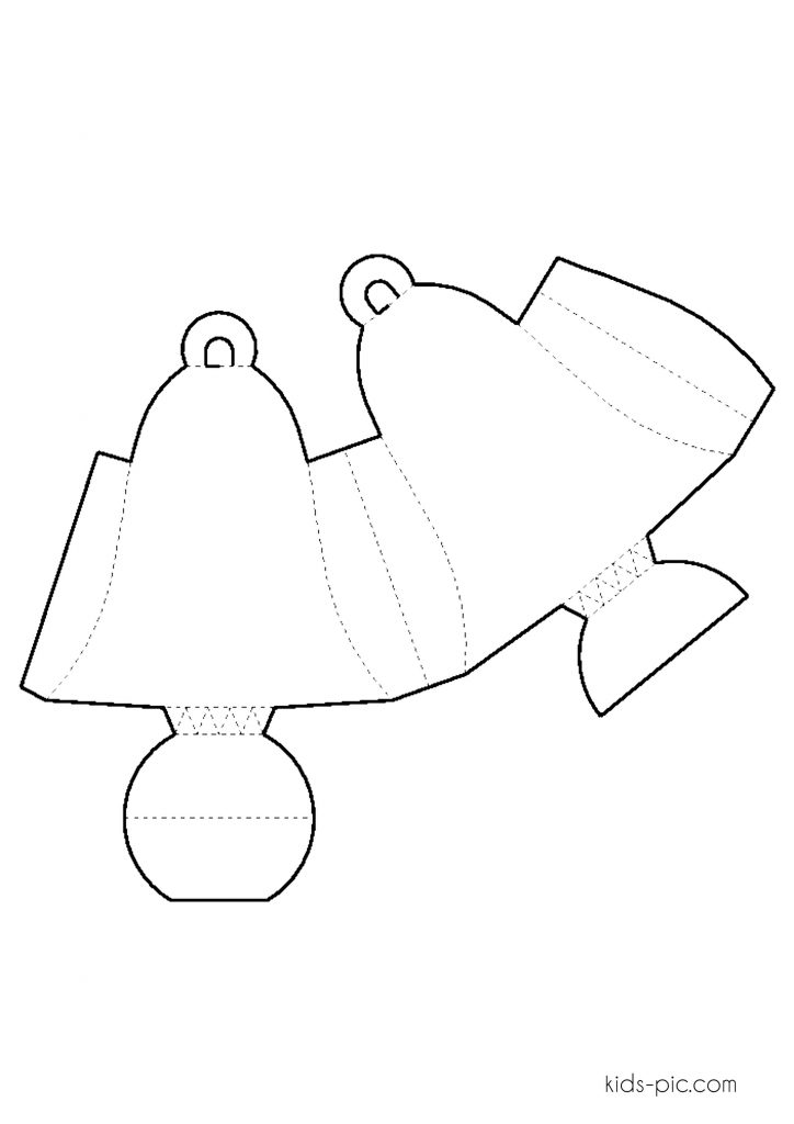 volume bell out of paper patterns for coloring coloring