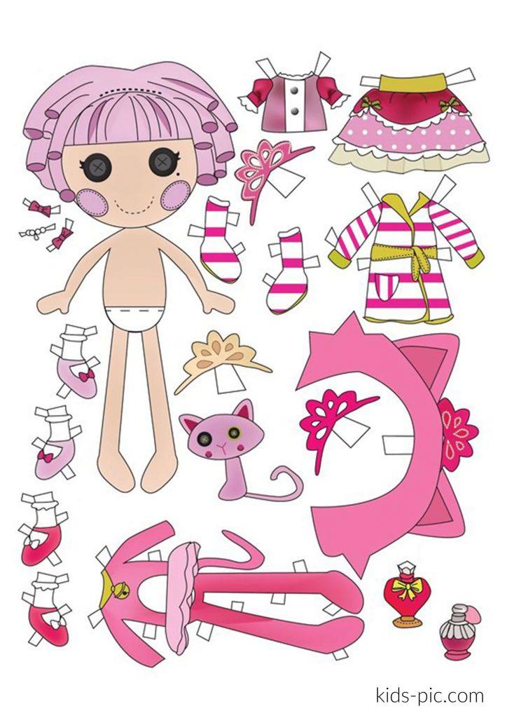 шаблон ляльки для вирізання з паперу