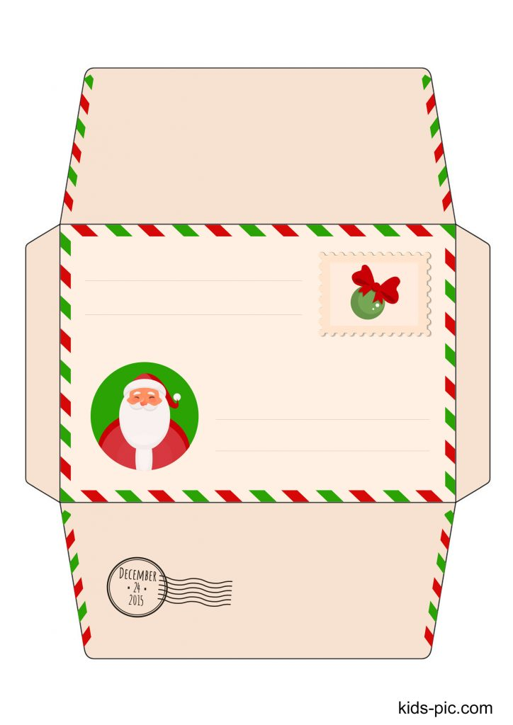 24 Free Printable Letter Envelope Template To From Santa