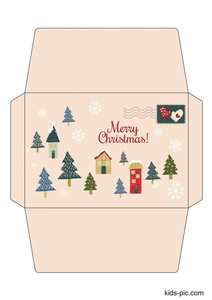 santa envelope free printable