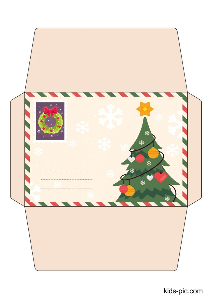 envelope from santa claus template