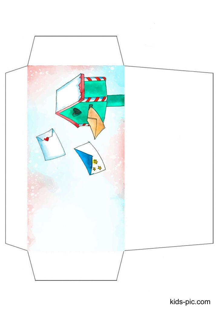 santa letter envelope template