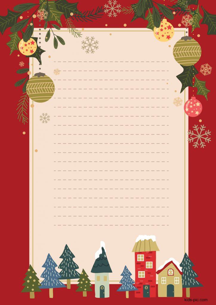 santa letter printable free
