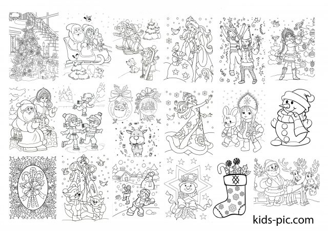 20 Free Printable Christmas Coloring Pages Kids Pic Com