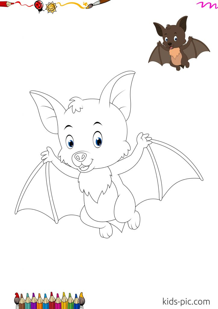 bat drawings for halloween