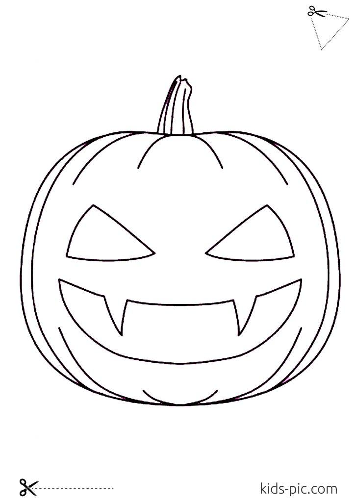 scary pumpkin templates printable