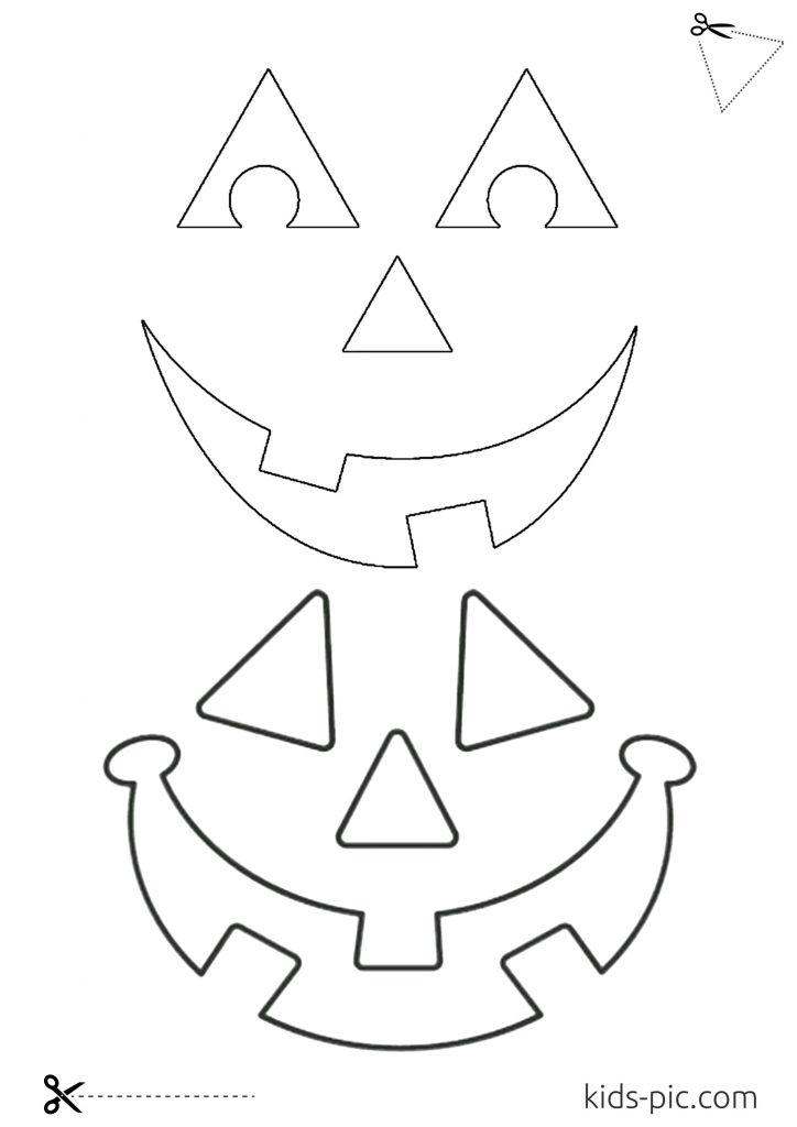 шаблон очі та рот для гарбуза