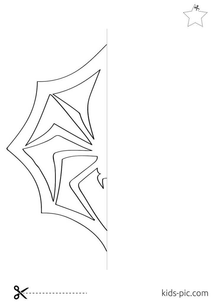 как из бумаги вырезать паутину