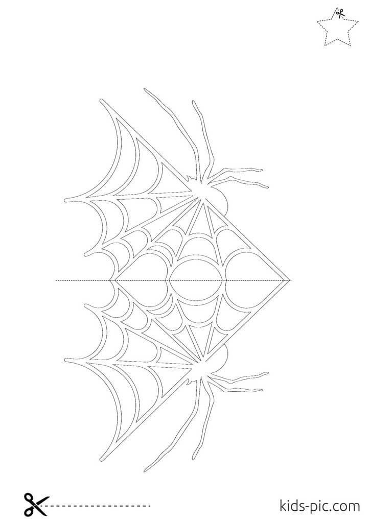шаблоны пауков на хэллоуин распечатать