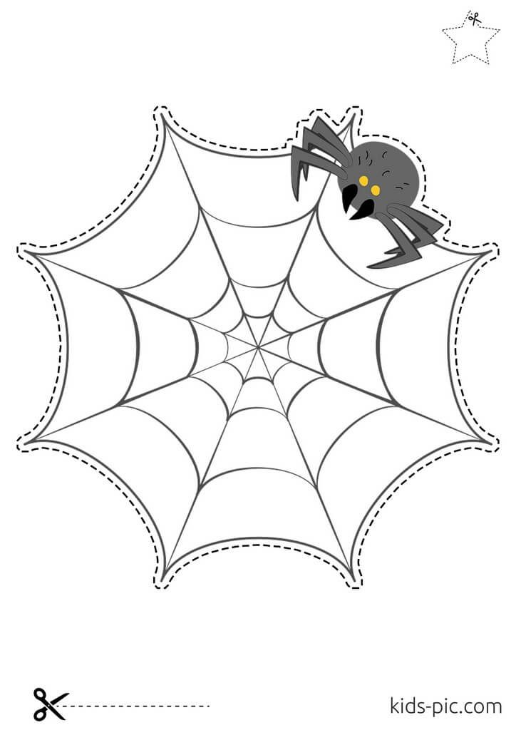 вирізати павука з паперу схеми
