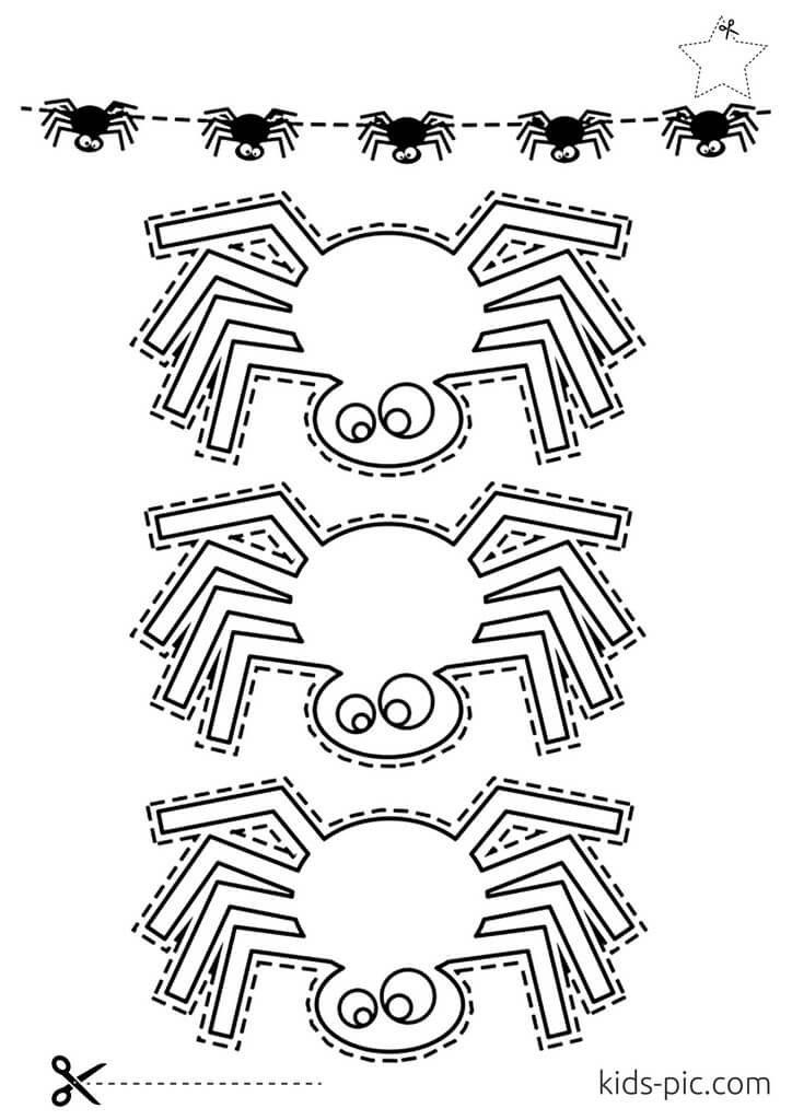 як вирізати павука з паперу своїми руками