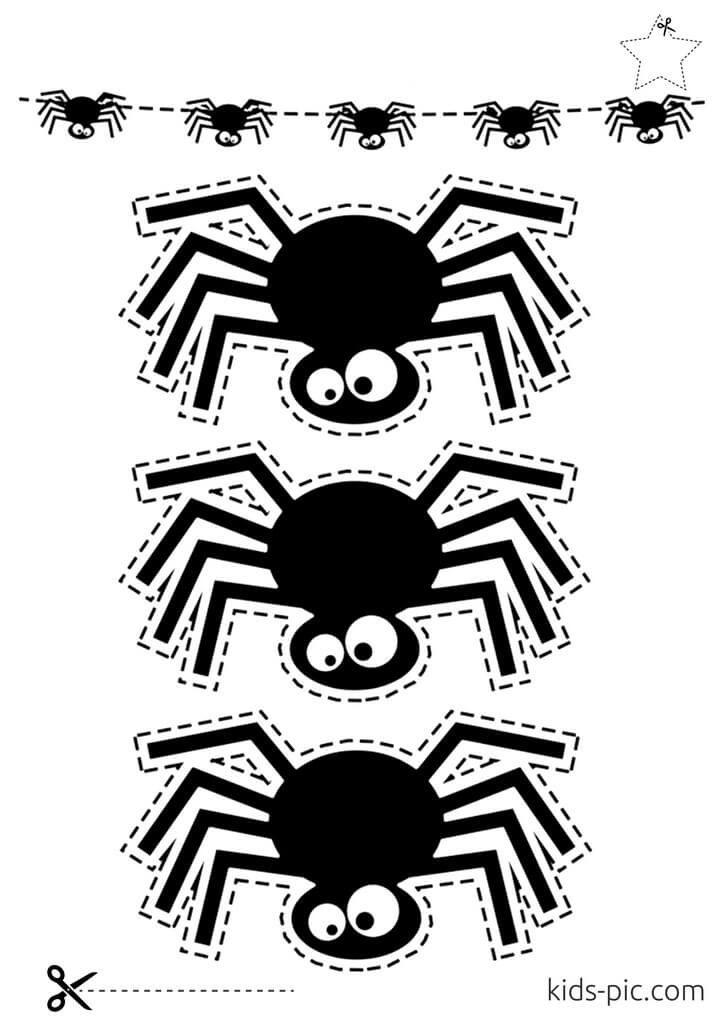 шаблони павуків на Гелловін роздрукувати