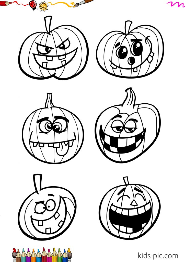 kids coloring pages halloween pumpkin