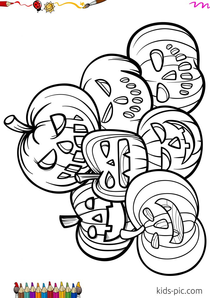 pumpkin patch coloring pages free printable