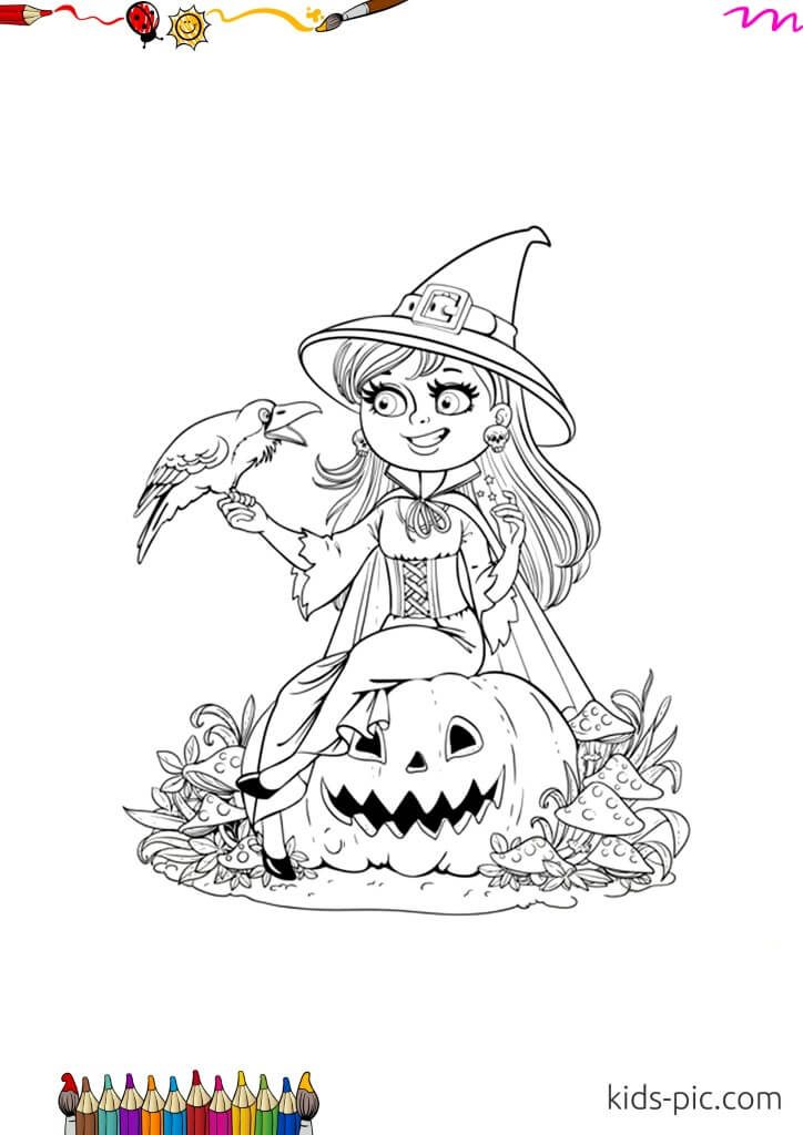 halloween witch broomstick